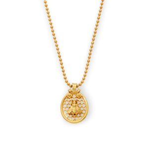 Julie Vos Honeycomb Charm Necklace