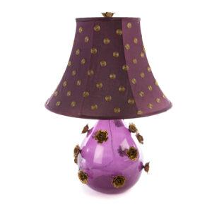 Large Amethyst Rose Lamp