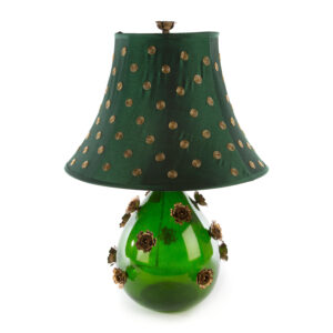Large Emerald Rose Lamp