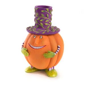 Patience Brewster Peter Pumpkin Taper Candleholder