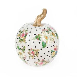 Small White Flower Market Pumpkin