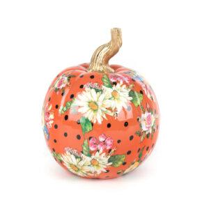 Small Orange Flower Market Pumpkin