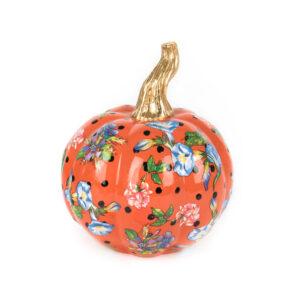 Mini Orange Flower Market Pumpkin