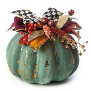 Medium Verdigris Pumpkin