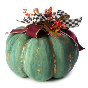 Large Verdigris Pumpkin