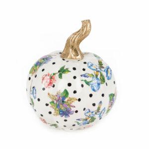 Mini White Flower Market Pumpkin