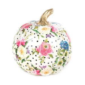 Medium White Flower Market Pumpkin