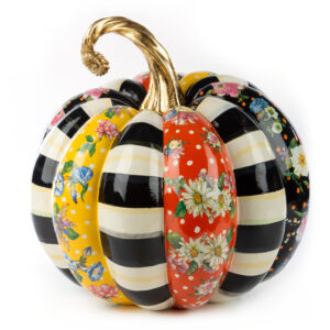 Large Flower Market Patchwork Pumpkin