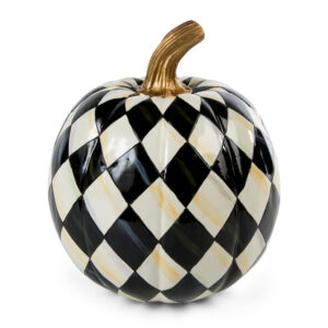 Small Courtly Harlequin Pumpkin