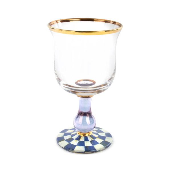Royal Check Water Glass