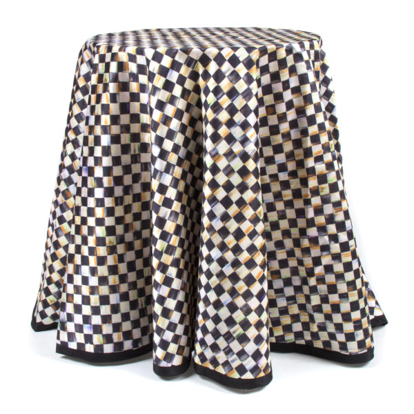 """Courtly Check 90"""" Round Table Cloth"""