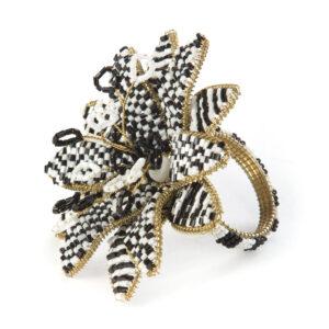 Black Avant-Garden Napkin Ring