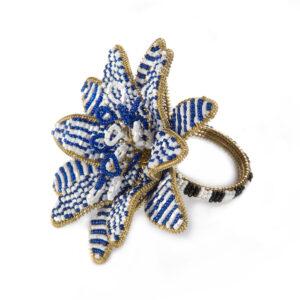 Blue Avant-Garden Napkin Ring