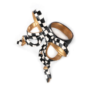 Check Bow Napkin Ring