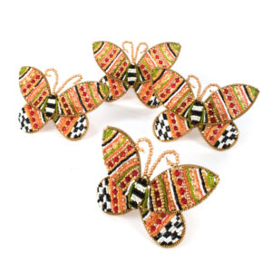 Monarch Butterfly Beaded Napkin Rings