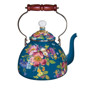 3qt Flower Market Tea Kettle - Lapis