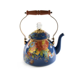 2qt Flower Market Tea Kettle - Lapis