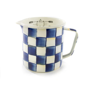 Royal Check Enamel Measuring Cup