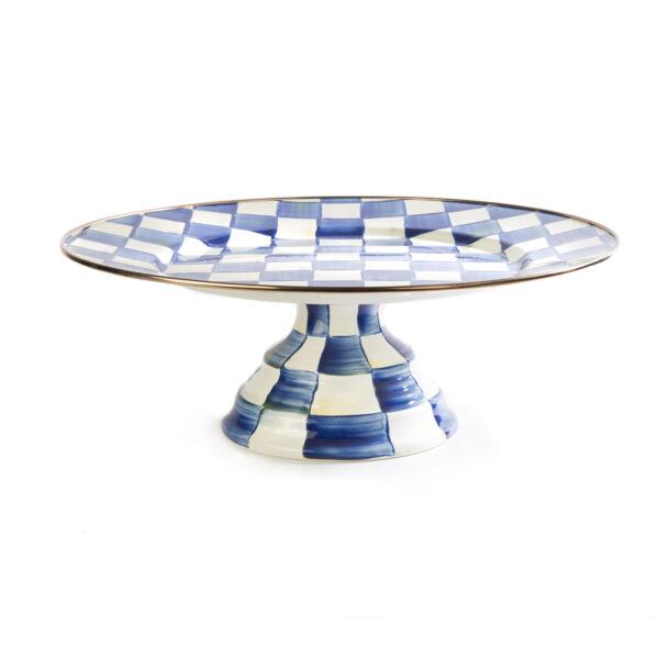 Royal Check Large Pedestal Platter
