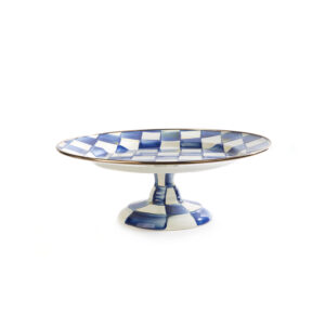 Royal Check Small Pedestal Platter