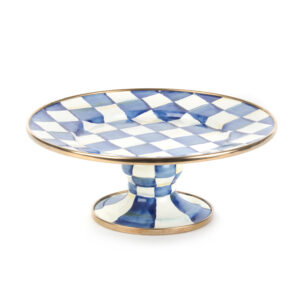 Royal Check Mini Pedestal Platter