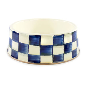 Royal Check Large Pet Dish
