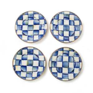 Royal Check Canape Plates