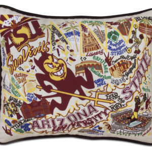 Arizona State University Embroidered Pillow