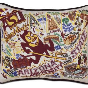 Arizona State University Embroidered Pillow