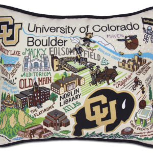 University of Colorado - Boulder Embroidered Pillow