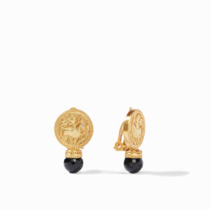 Julie Vos Coin Clip-On Earring - Black Onyx