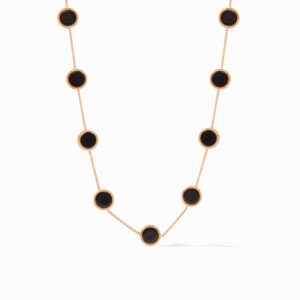 Julie Vos Coin Demi Station Necklace - Black Onyx