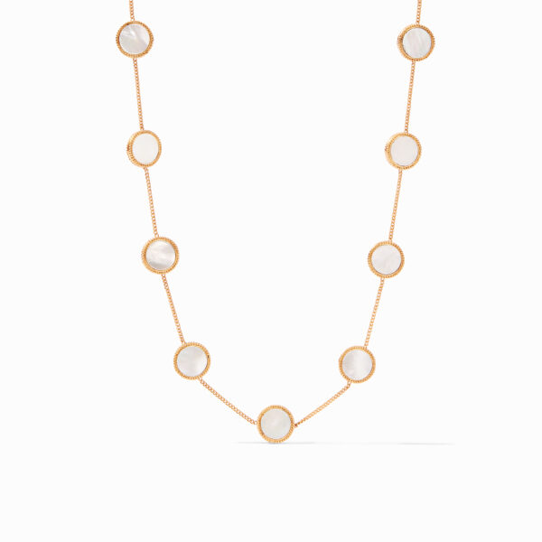 Julie Vos Coin Demi Station Necklace - Mother of Pearl