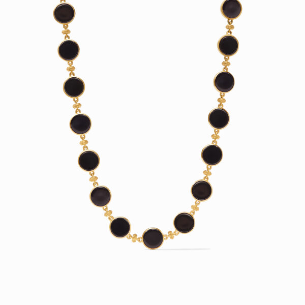Julie Vos Coin Double Sided Necklace - Black Onyx