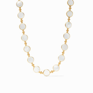 Julie Vos Coin Double Sided Necklace - Mother of Pearl