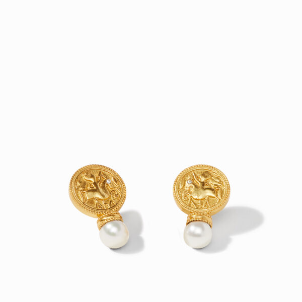 Julie Vos Coin Earring - Pearl