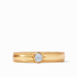 Julie Vos Coin Hinge Bangle - Iridescent Ice Blue