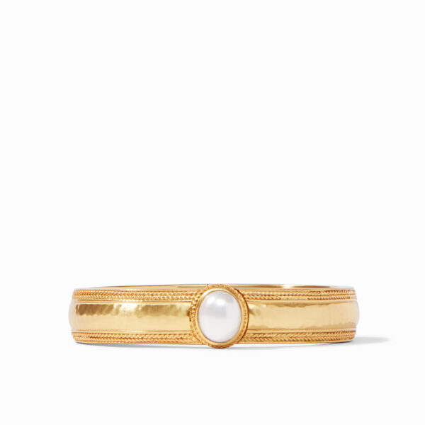Julie Vos Coin Hinge Bangle with Pearl