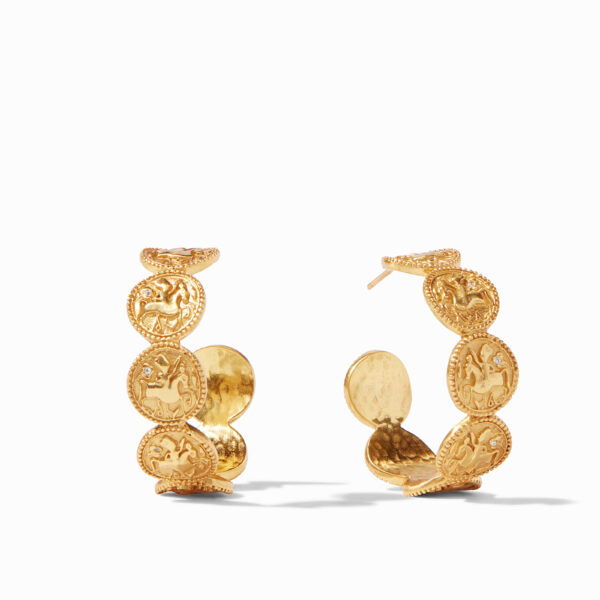 Julie Vos Large Coin Hoop Earrings