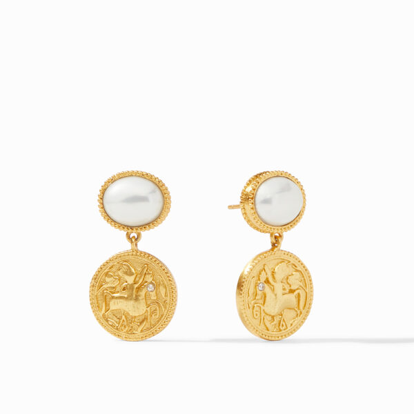 Julie Vos Coin Midi Earring - Pearl