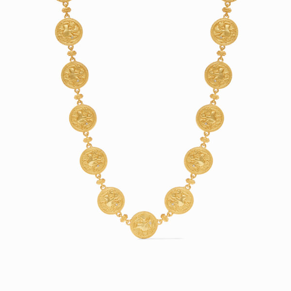 Julie Vos Coin Necklace with Pearl Toggle Ends