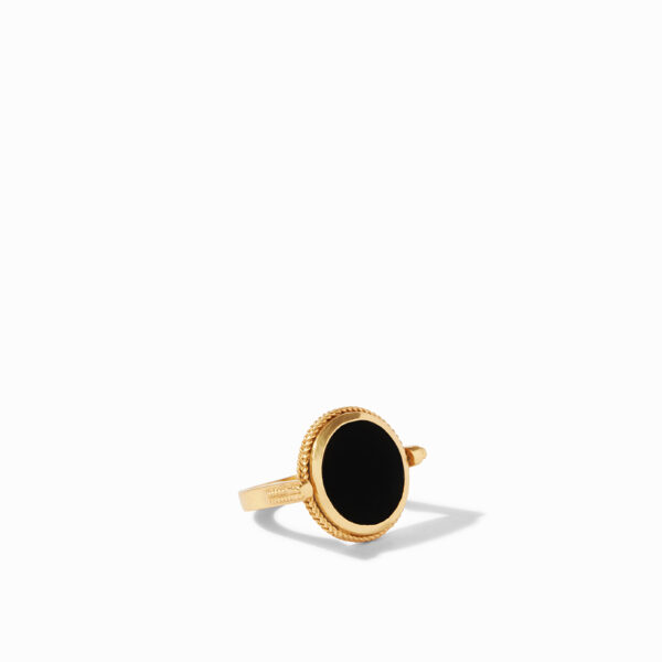 Julie Vos Coin Revolving Ring - Black Onyx