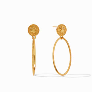 Julie Vos Coin Statement Earring
