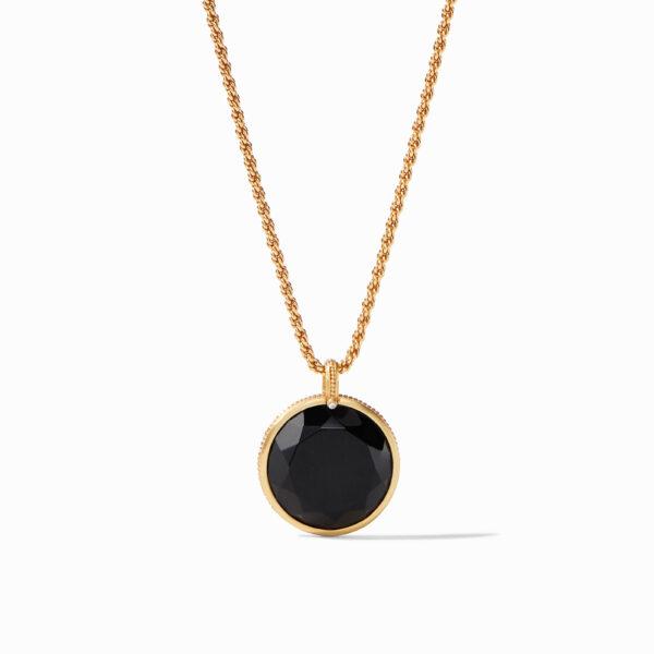 Julie Vos Coin Statement Pendant - Black Onyx