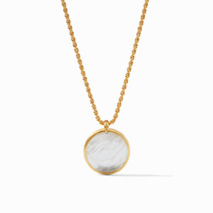 Julie Vos Statement Pendant - Iridescent Clear Crystal