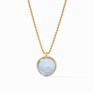 Julie Vos Coin Statement Pendant - Iridescent Ice Blue