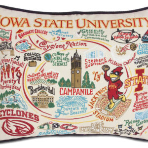 Iowa State University Embroidered Pillow