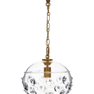 Florence Globe Pendant in Brass