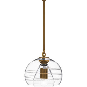 Amalia Petite Double Shade Pendant in Brass