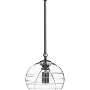 Amalia Petite Double Shade Pendant in Nickel